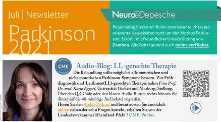 Hier ist ein Vorschaubild des Newsletter Parkinson Juli 2021 der Neuro-Depesche