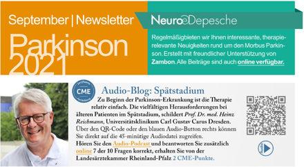 Hier ist ein Vorschaubild des Newsletter Parkinson September 2021 der Neuro-Depesche